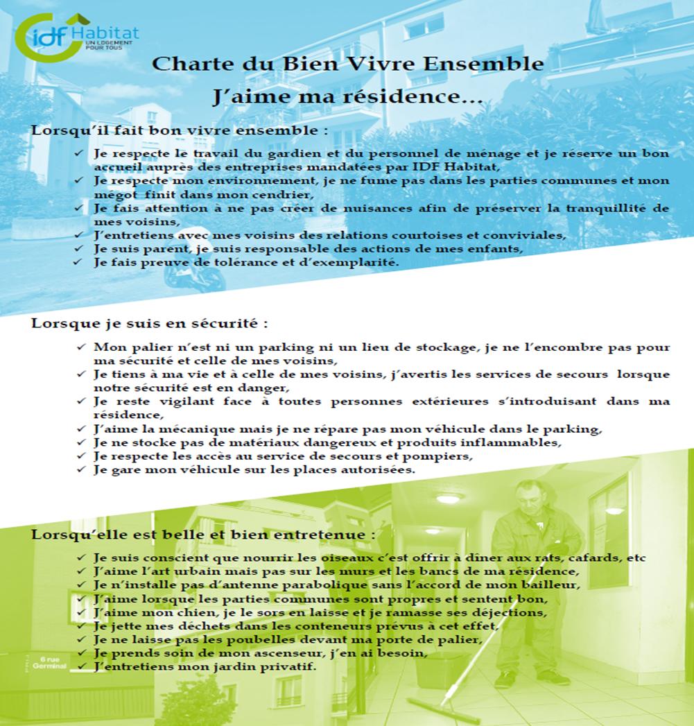 Charte du bien vivre ensemble - Liste des charges locatives incombant au locataire ...